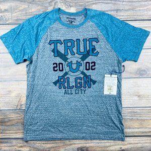 True Religion All City Baseball Raglan T-Shirt 2XL